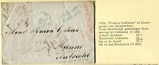 1836 brief Amsterdam - Wenen met stempel FRANCO COBLENTZ in blauw-groen