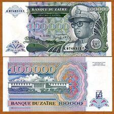 Zaire, 100,000 (100000) Zaires, 1991, P-41, UNC