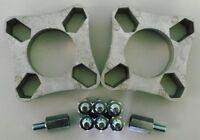 "GRAYSTON UNIVERSAL WHEEL SPACER KIT 4 STUD 32MM PCD 94 - 118mm + 3/8"" UNF STUDS"