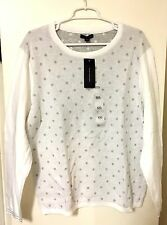 "Tommy Hilfiger Women's Crew Neck Snow White Pullover Sweater Long Sleeve ""NEW"""