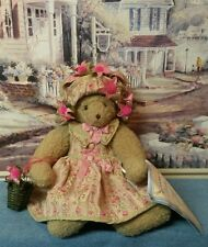 """Bunnies by the Bay Collection - Beige Bunny with Flowers - Matalda 12"""" Tall"""