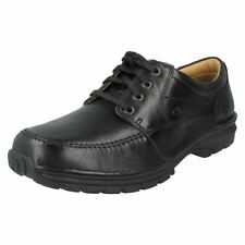 Calzado de hombre Zapatos informales con cordones de color principal negro de piel