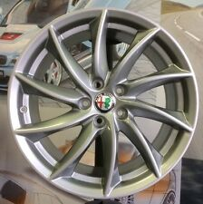 "A Set of 4 Alloy Wheels 8j+9jx18"" ALFA ROMEO GIULIA genuine OEM rims + 4 TPMS"