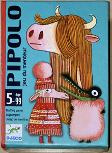 PIPOLO Bluffing Game ~ DJECO ~ Ages 5 & Up ~ Factory Sealed