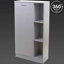 White Wooden Storage Cabinet Unit Shelves Door Bathroom Cupboard Bedroom Unit