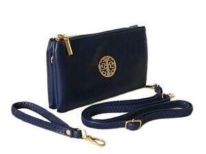 Cross Body Bag Small Shoulder Multi Pocket Clutch Purse Messenger Lightweight UK