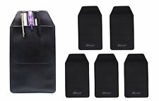 6 Pcs Black Faux Leather Pocket Protector For Pen Leaks Fits Shirt Style 2 NEW