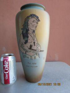 """Weller Dickensware II 12 3/4"""" Elk Head, Holy Man Vase"""