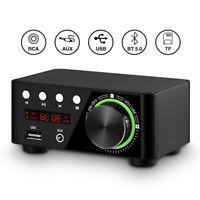 Bluetooth 5.0 Power Amplifier USB Mini Music Player Stereo Home Car Au Ez