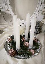 Candle Holder Advents Wreath Metal Wreath Shabby Vintage