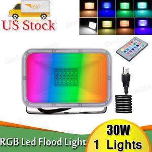 LED Flood Light 100W 50W 30W 20W Watt RGB Outdoor Color Changing Light W/ Remote