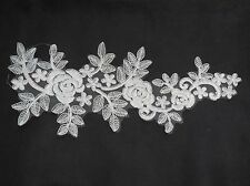 Large piece of ivory bridal wedding lace Applique / floral lace motif . By piece