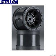 JConcepts 3359B Hazard 1.7 Inch RC10 Rear Wheels Black (2) Fits 1/4 Inch Axles