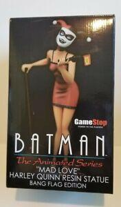 Harley quinn the animated series GameStop Bang Flag Edition Statue Joker Batman
