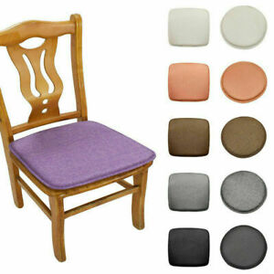 1pc Round Square Seat Cushion Sponge Chair Covers Soft Dining Chairs Seat Pad