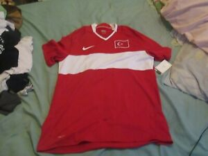 turkey large red nike  football shirt   new with tags