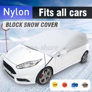 3 Size Half Car Cover Waterproof Sun UV Rain Snow Dust Outdoor Indoor