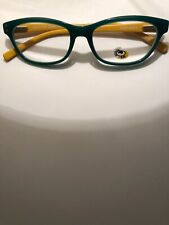 Eyebobs Stew Zoo 2898 11 New 2.00 Mag  Emerald With Muted Mustard Arms