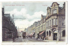 WHITLEY BAY Whitley Road, Old Postcard Postmark Whitley Bay 1906