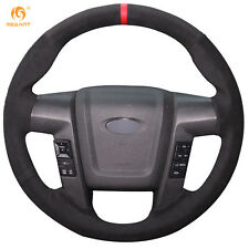 Black Suede Steering Wheel Cover Wrap for Ford F150 F-150