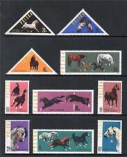 POLAND MNH 1963 SG1433-1442 POLISH HORSE - BREEDING