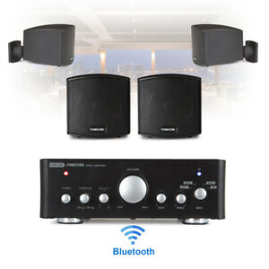 Speaker and Amplifier Home HiFi AUX Stereo Bluetooth Music Sound System (Pair)