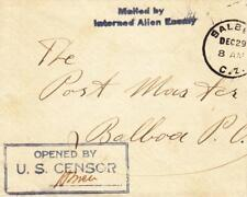 German Internee held Balboa Canal Zone to Local Del. Cover is reduced (C1214)