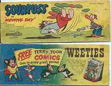 WEETIES AUSTRALIA RARE CEREAL MINI GIVEAWAY PROMO MERRY MELODIES SOURPUSS G
