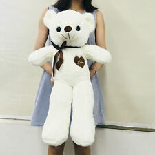 Cute Big Plush Stuffed Teddy Bear Huge Soft 100% Cotton Toy Xmas B-Day Gift US
