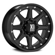 "17 Inch Black Wheels Rims Chevy Silverado 8 Lug XD Series Addict XD798 17x9"" NEW"