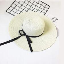Fashion Women Wide Straw Hat Outdoor Anti UV Protection Boho Cap Summer Decor