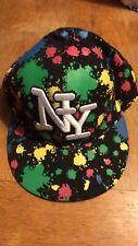 NY Baseball Cap Paint Splat Black
