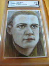 LEGOLAS LORD OF THE RINGS ARTIST AUTOGRAPH 2014 ACEO ART CARD PRINT GRADED 10