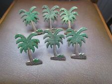 Brass Palm Tree Napkin Rings, Set of 6 Holders