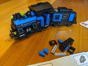 Lego Trains MY OWN TRAIN (3740) Small Blue Locomotive With Tender (3742)