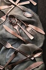 96 PLACE SETTINGS! ROSE GOLD METALLIC 288 PC PLASTIC CUTLERY FORKS SPOONS KNIVES