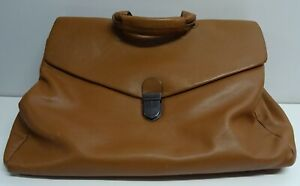 LARGE OROTON TAN LEATHER BAG WITH SHOULDER STRAP