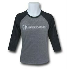 Iron Man Stark Industries Expo Men's Baseball T-Shirt Charcoal