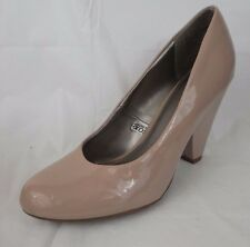Mossimo Beige/Muave High Heels Chunky Pumps Womens 8.5 M Classic Round Toe Work