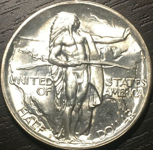 Untoned, Gem BU 1926-S Oregon Trail Commemorative Half Dollar