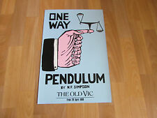 One Way PENDULUM by N F Simpson 1988 Original the Old VIC Theatre Poster