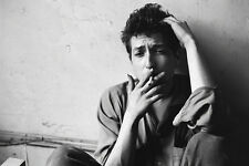 Bob Dylan Smoking Black and White 36x24 Inches Poster
