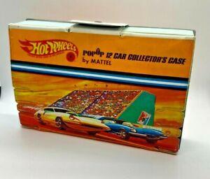 Vintage 1967 Mattel Hot Wheels Popup 12 Car Collector Case