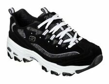 Skechers Sneaker Low D-Lites - Me Time Schwarz / Weiß Synthetik Normal Damen