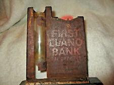 Vintage~Advertising Rain Gauge~Recorder~First Llano Bank (Texas)~Rustic~1960' s