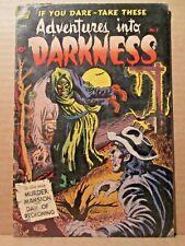 Adventures Into Darkness 5 (#1) NOOSE GHOUL Scarce Standard PreCode Horror Comic