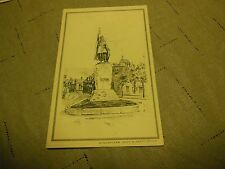 RARE VINTAGE POST CARD WINCHESTER KING ALFRED'S STATUE  PHOTOCHROM CO.