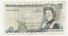 Bank of England Five Pounds Bank Note  ~ Series D ~ 1971-1990