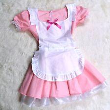 Pink Alice in Wonderland Halloween Costume Dress Small Medium Maid Apron from US