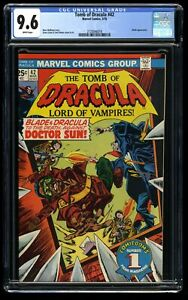 Tomb of Dracula #42 CGC NM+ 9.6 White Pages Blade vs Doctor Sun! Marvel Comics